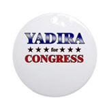 YADIRA for congress Ornament (Round)