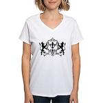 Acadian Cajun Crest Women's V-Neck T-Shirt