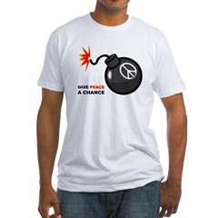 Peace Bomb Fitted T-Shirt