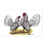 Silver Sebright Bantams Postcards (Package of 8)