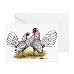 Silver Sebright Bantams Greeting Cards (Pk of 20)
