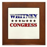 WHITNEY for congress Framed Tile