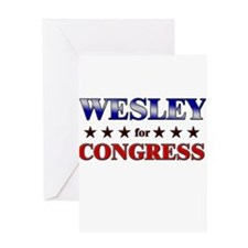 WESLEY for congress Greeting Card