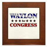 WAYLON for congress Framed Tile
