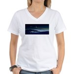 Saturn View Women's V-Neck T-Shirt