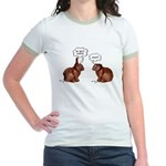Chocolate Easter Bunnies Jr. Ringer T-Shirt