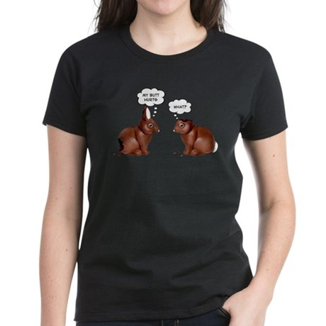Chocolate Easter Bunnies Women's Dark T-Shirt