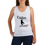 Evolve Already! Monkey Women's Tank Top