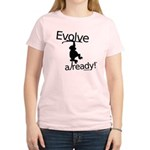 Evolve Already! Monkey Women's Light T-Shirt