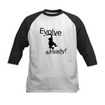Evolve Already! Monkey Kids Baseball Jersey