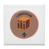 Librarian Scout Badge Tile Coaster