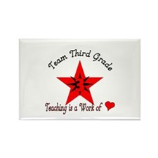 Team Third grade Rectangle Magnet (10 pack)