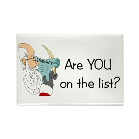 Santa's Naughty List Rectangle Magnet