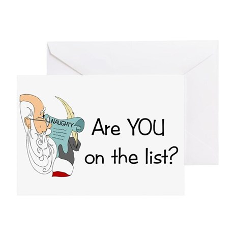 Santa's Naughty List Greeting Card
