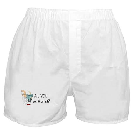 Santa's Naughty List Boxer Shorts