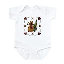 Christmas Tree Kitty Infant Bodysuit