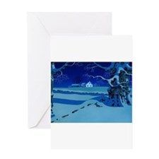 Twilight Snow Greeting Card