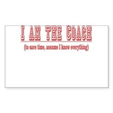 I'm the Coach- Red Sticker (Rectangular)