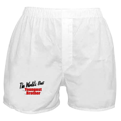 """The World's Best Youngest Brother"" Boxer Shorts"