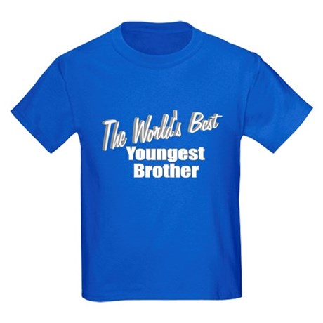 """The World's Best Youngest Brother"" Kids Dark T-Sh"