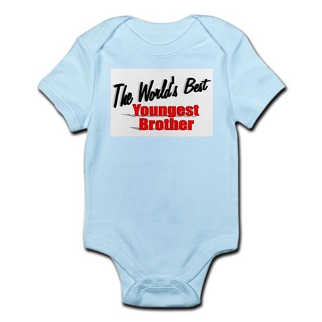 """The World's Best Youngest Brother"" Infant Bodysui"