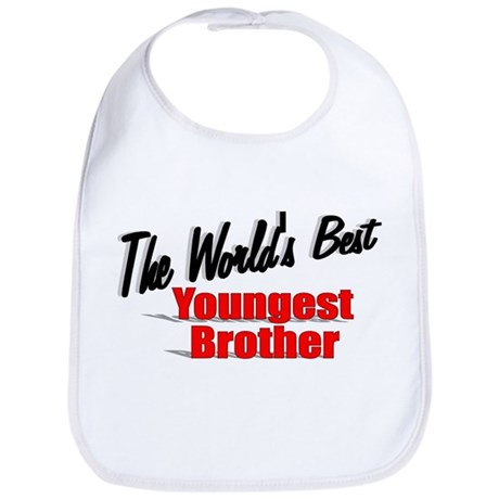 """The World's Best Youngest Brother"" Bib"