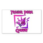 Trailer Park Queen Rectangle Sticker