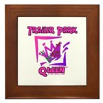 Trailer Park Queen Framed Tile