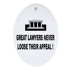 Lawyer assistant Oval Ornament