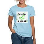 Everyone loves an Irish Girl Women's Pink T-Shirt