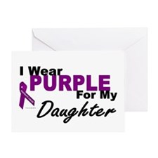 I Wear Purple For My Daughter 3 (PC) Greeting Card