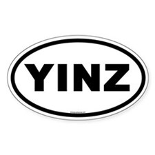 Yinz Oval Bumper Decal