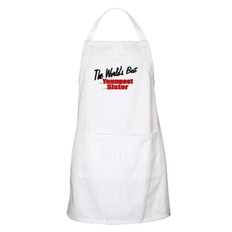 &quot;The World's Best Youngest Sister&quot; BBQ Apron