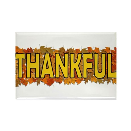 Thankful Thanksgiving Rectangle Magnet (100 pack)