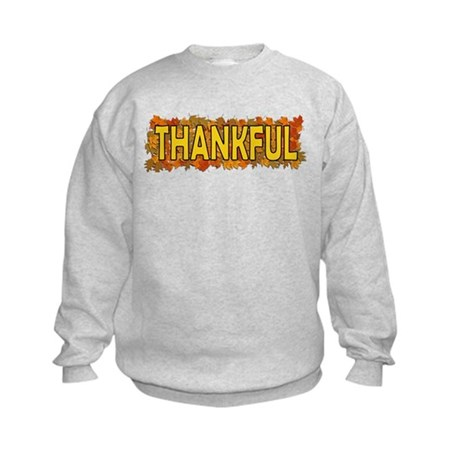 Thankful Thanksgiving Kids Sweatshirt
