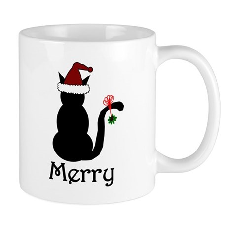 Merry Christmas Cat Mug