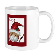Santa Hat Christmas Cat Mug
