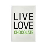 Live Love Chocolate Rectangle Magnet (10 pack)