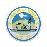 USS Blue Ridge LCC 19 Ornament (Round)