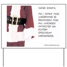Autism Dear Santa Holiday Yard Sign