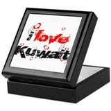 i love Kuwait Keepsake Box