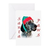 Santa Paws English Setter Greeting Cards (Pk of 20