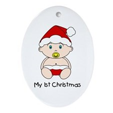 My 1st Christmas Oval Ornament