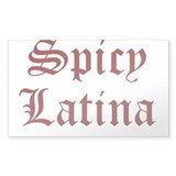 spicy latina t-shirt gift Rectangle Bumper Stickers