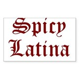 spicy latina t-shirt gift Rectangle Decal