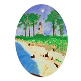 Madisonville Lighthouse Paint Oval Ornament