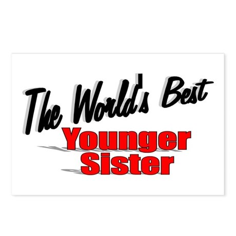 """The World's Best Younger Sister"" Postcards (Packa"