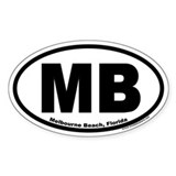 "Melbourne Beach, Florida ""MB"" Oval Decal"