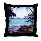 Kauai Hidden Beach Throw Pillow
