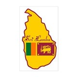 Cool Sri Lanka Rectangle Decal